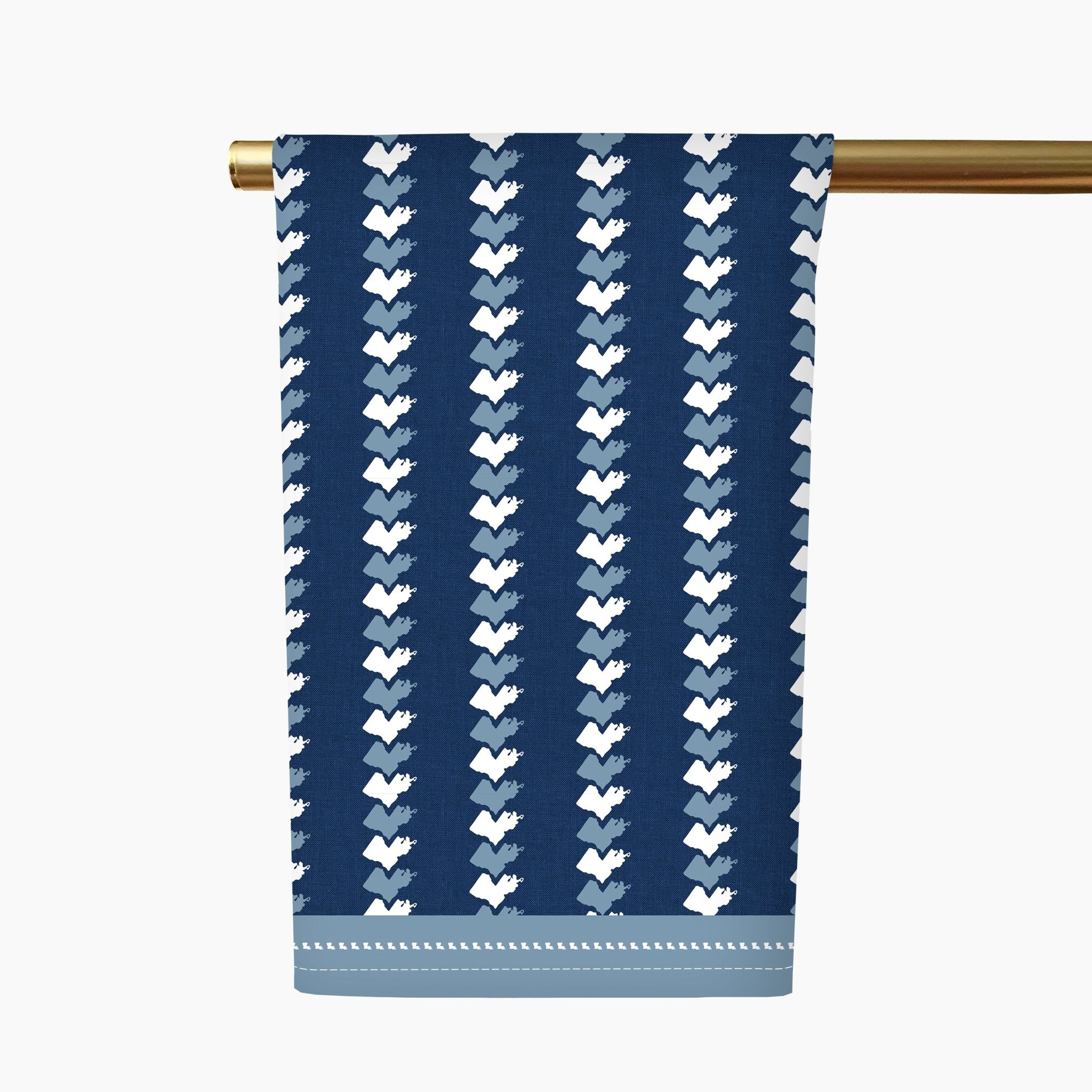 Honey + Hank Louisiana Stripe Tea Towel-Navy