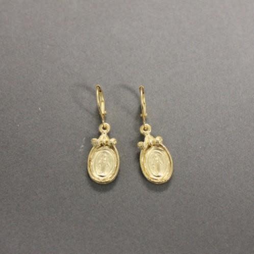 Virgin Mary Frame Earring