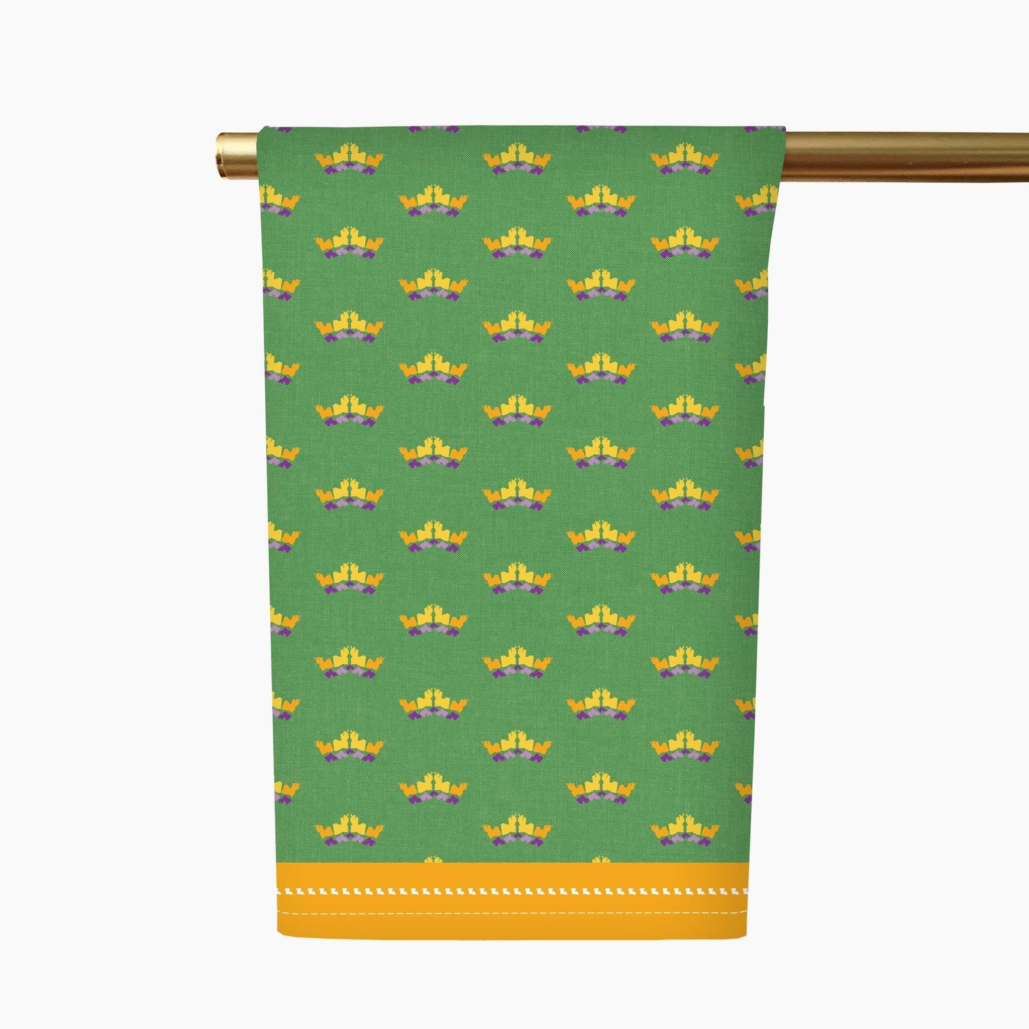 Honey + Hank Louisiana Crowns Tea Towel-Mardi Gras