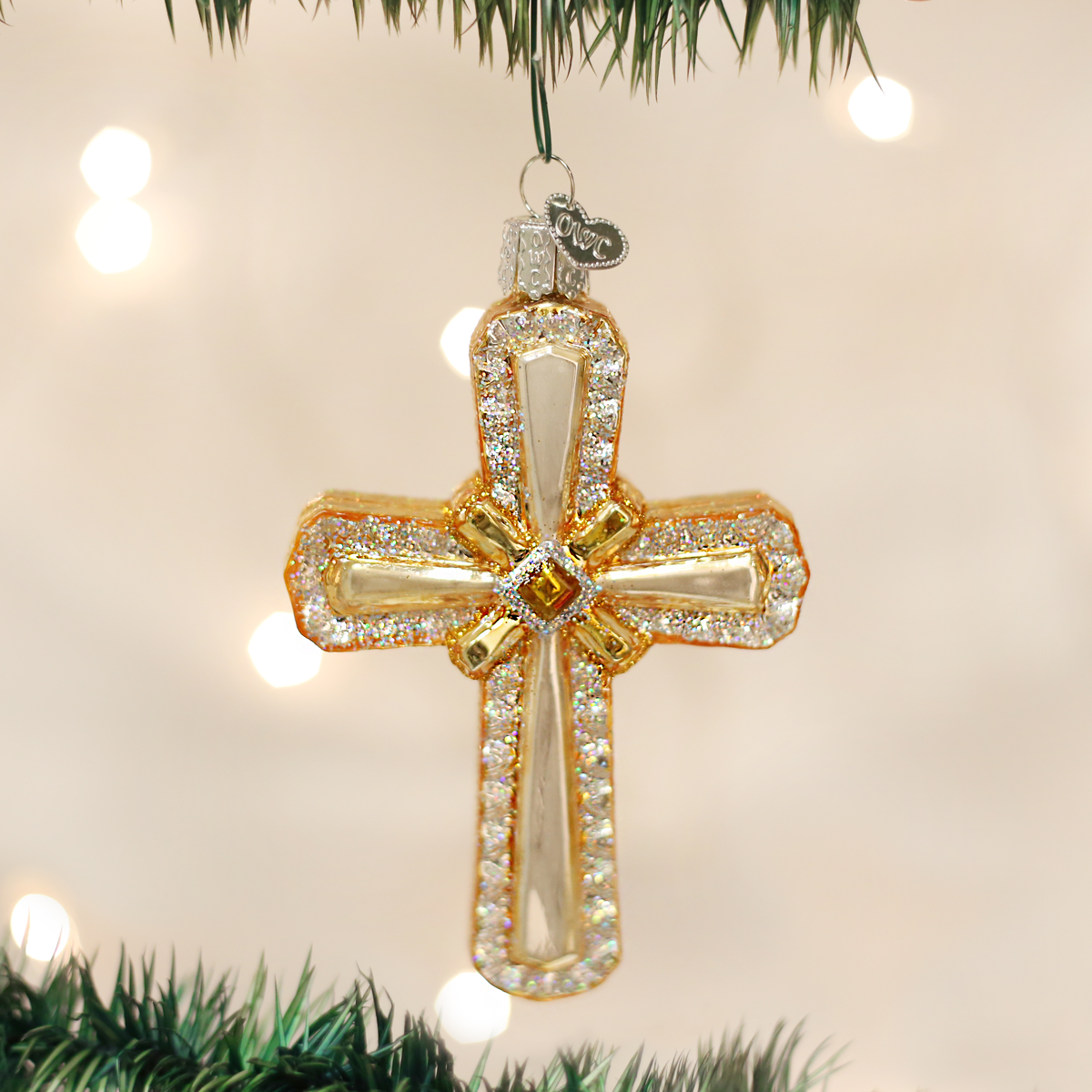 Old World Christmas OWC Holy Cross Ornament