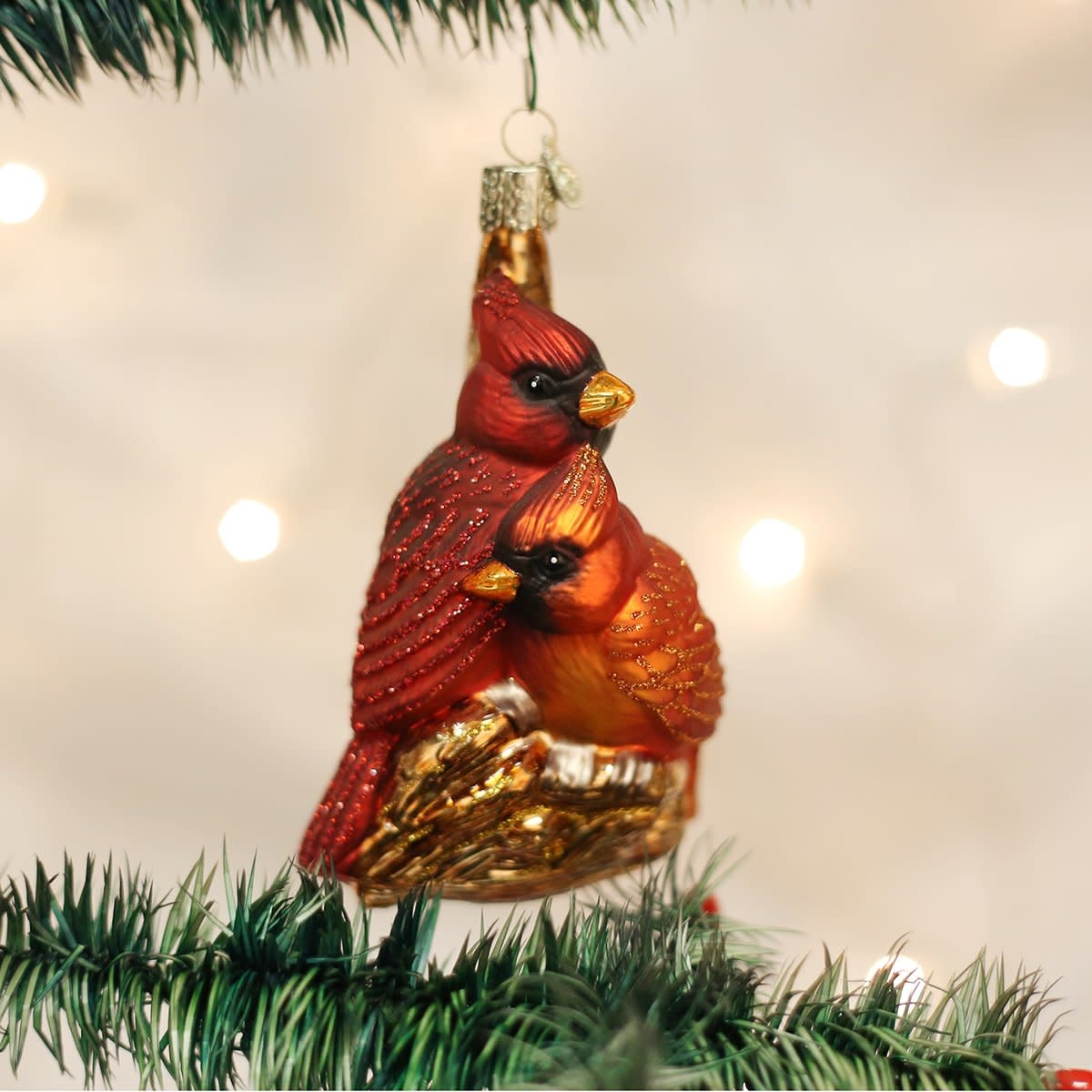Old World Christmas OWC Pair of Cardinals
