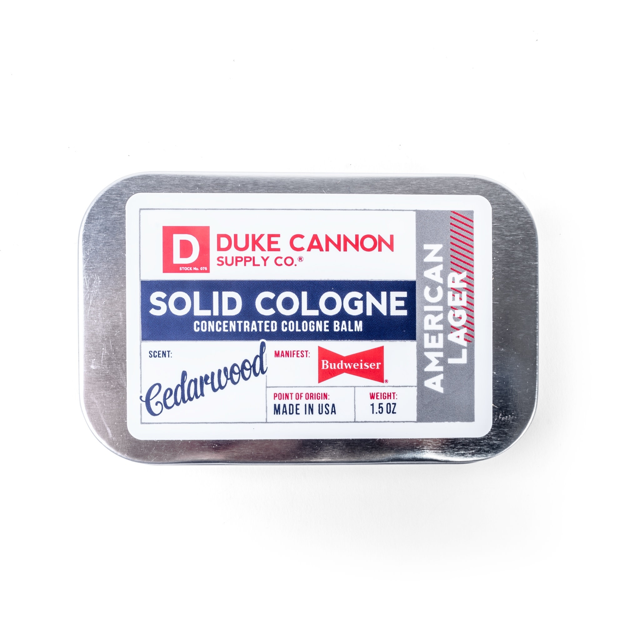Duke Cannon Solid Cologne-American Lager