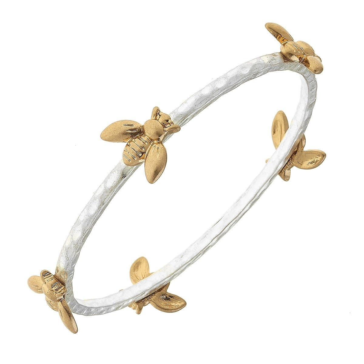 Canvas Claudia Bees Bangle Two-Tone