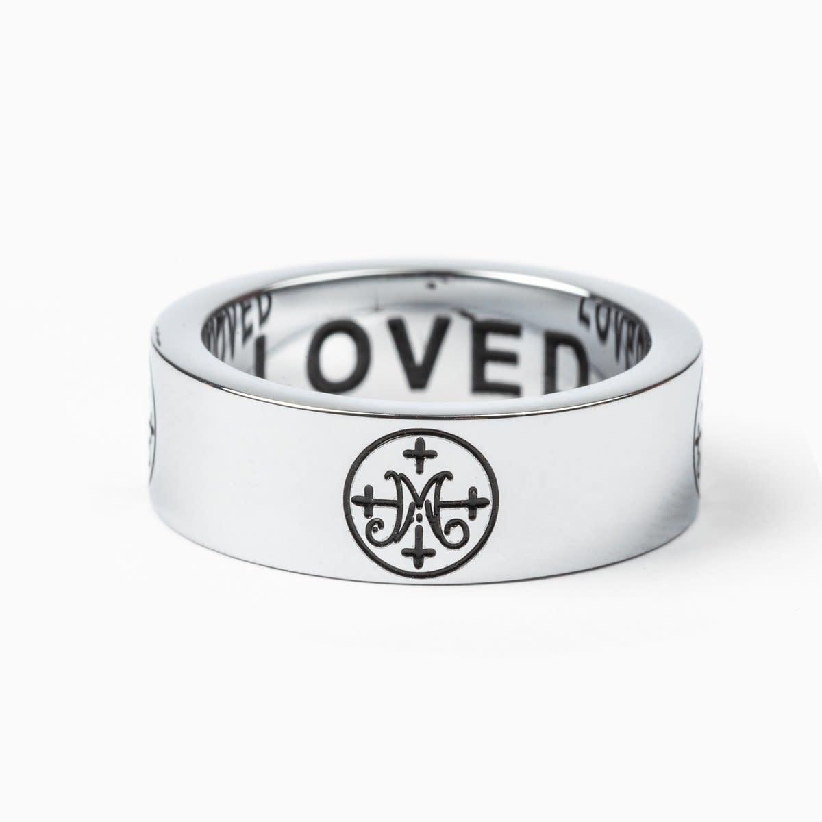 My Saint My Hero Greatest Love Ring-Silver-Size 7