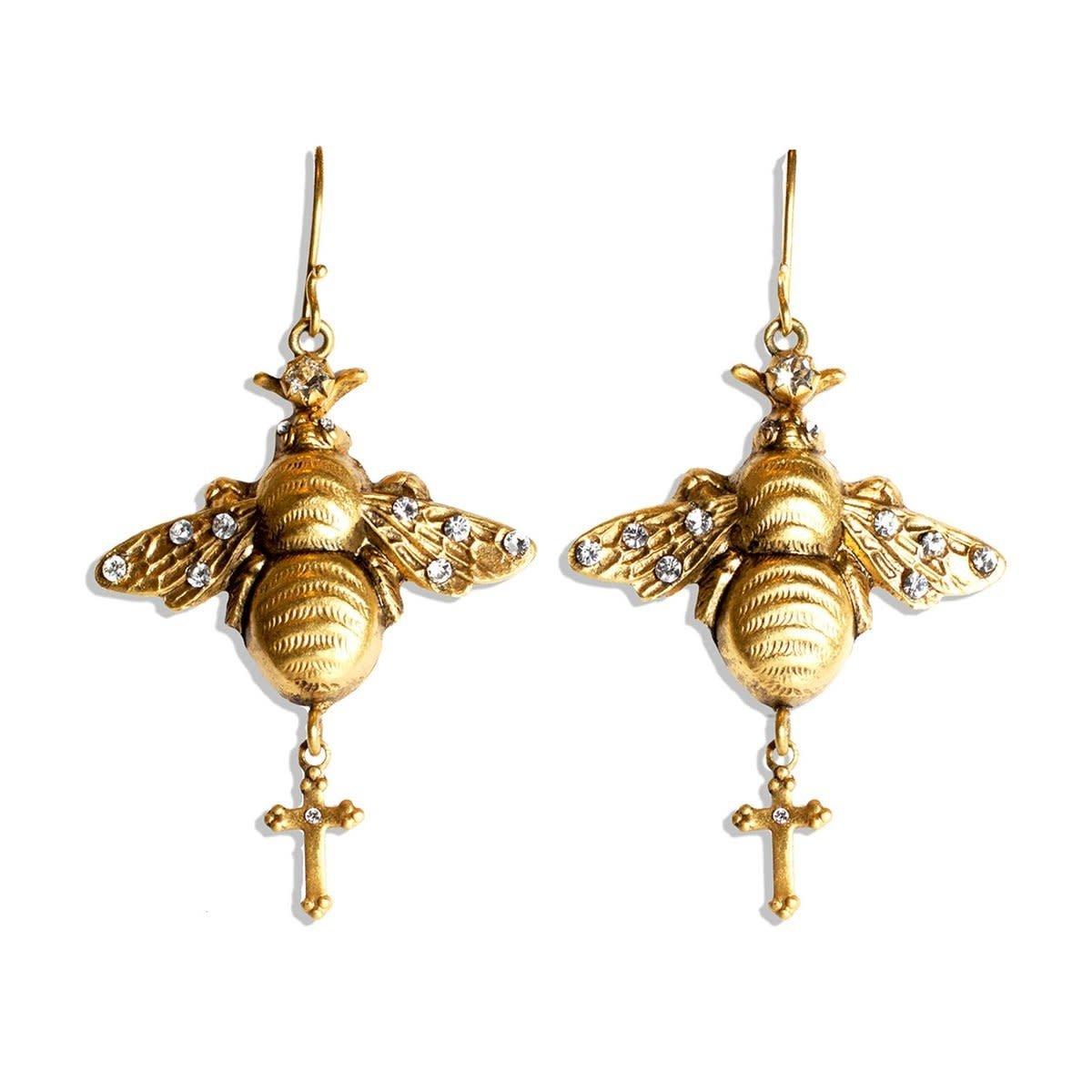 VSA Designs Gold Bee Mine Earrings