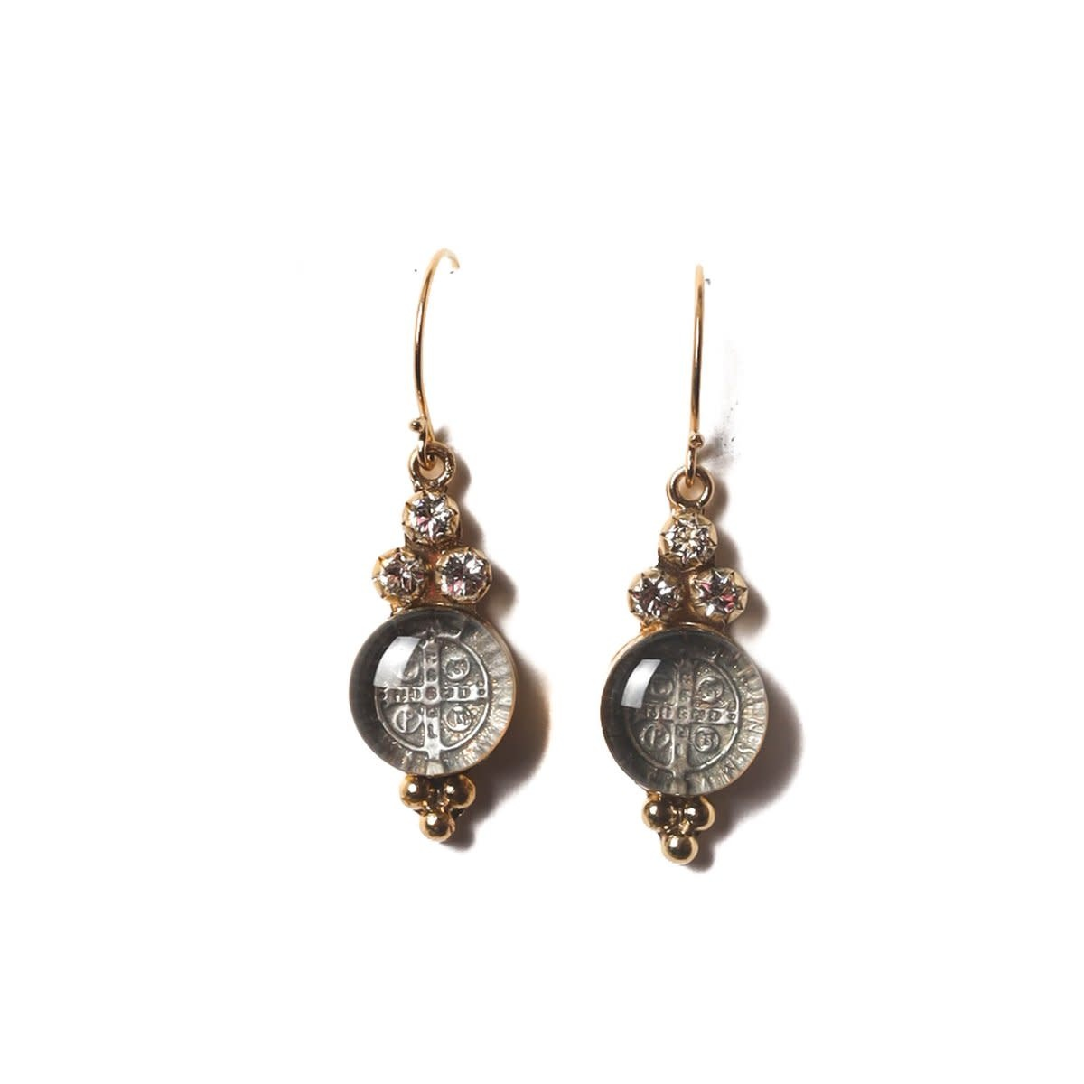 VSA Designs Lucia San Benito Sterling Silver/Gold Vermeil Earrings