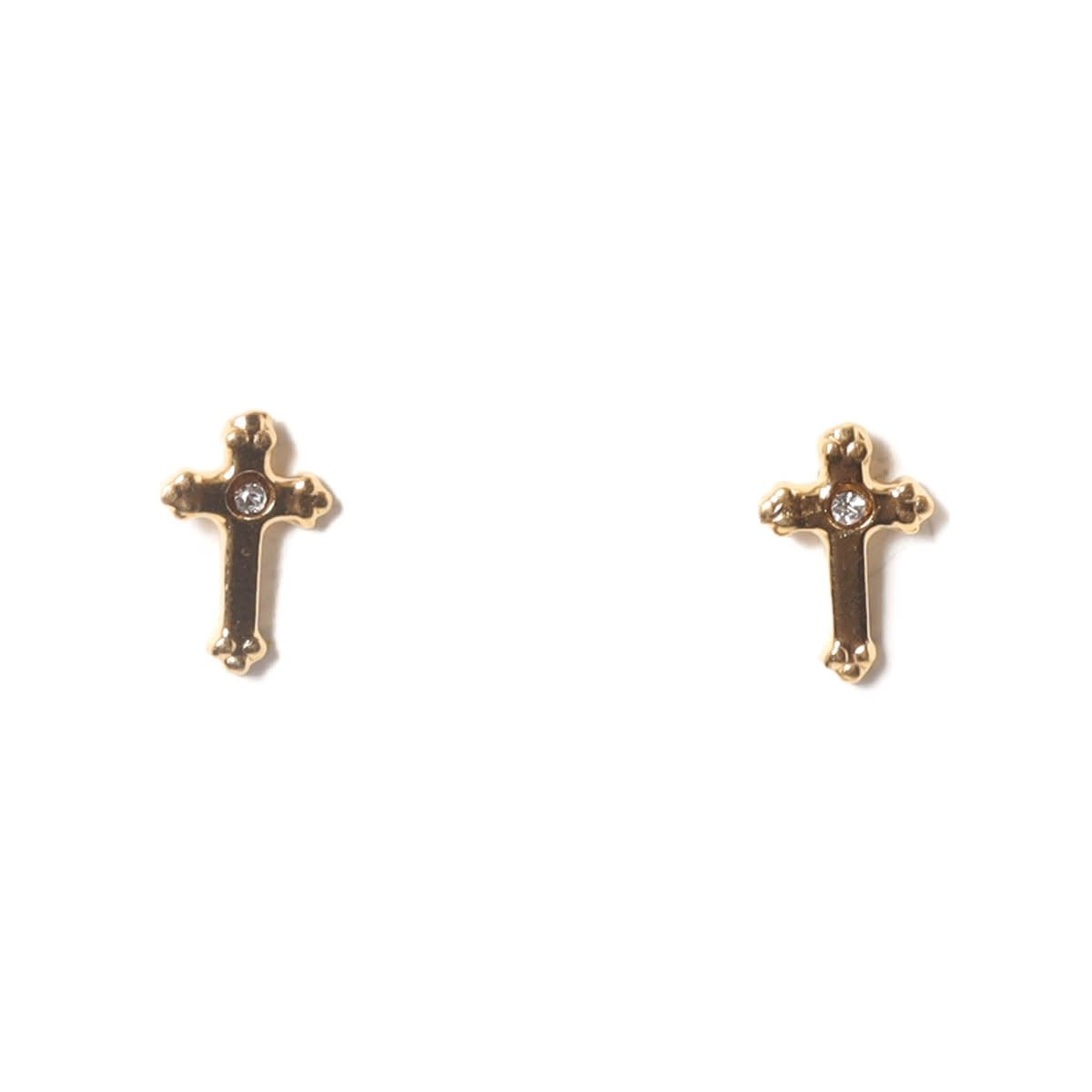 VSA Designs Post Lovers Cross Gold Vermeil Earrings