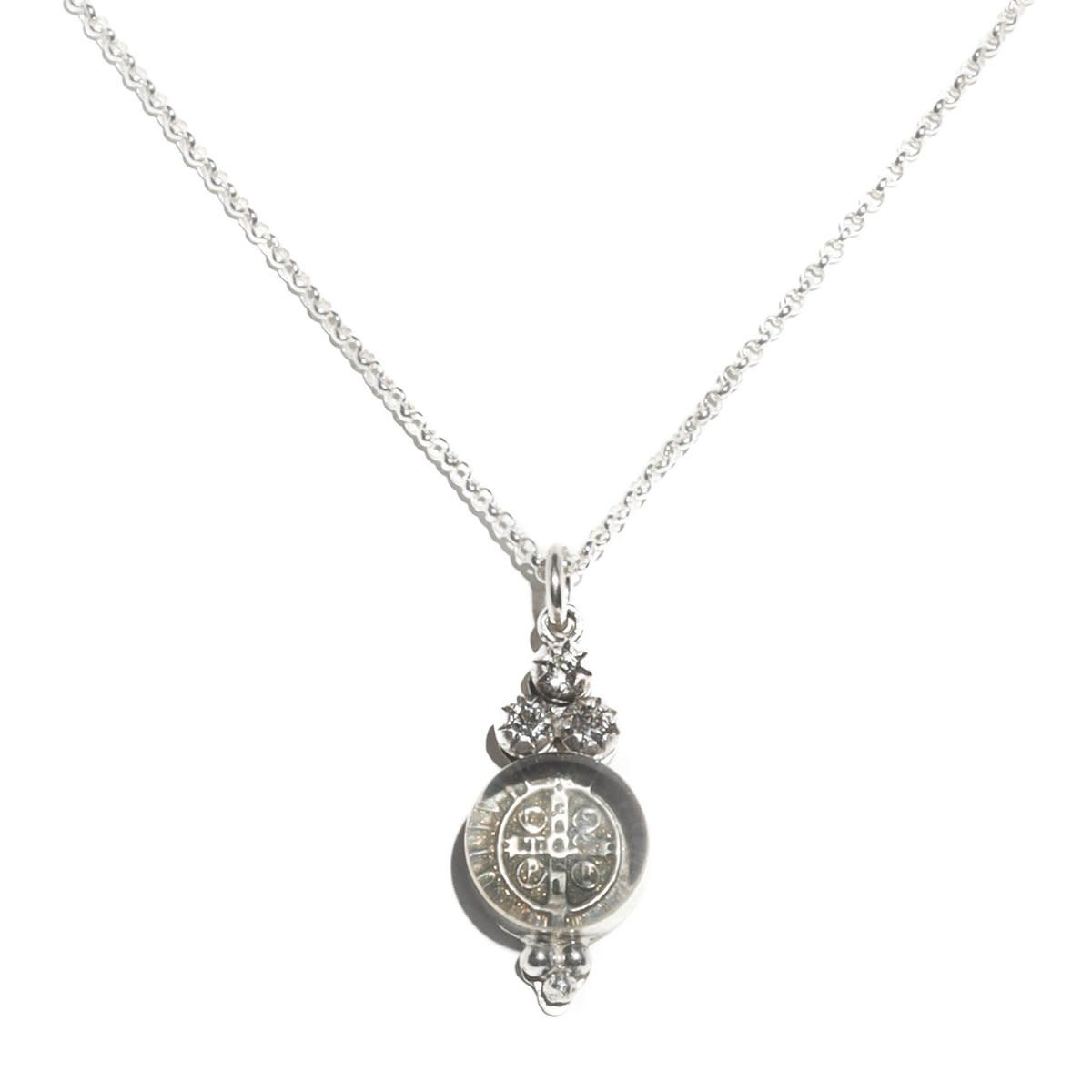 VSA Designs Lucia Charm Sterling Silver Necklace