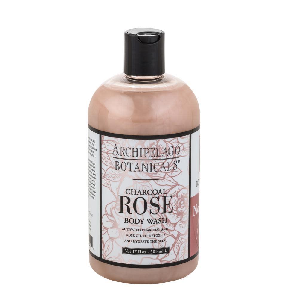 Archipelago Charcoal Rose Bodywash 17oz