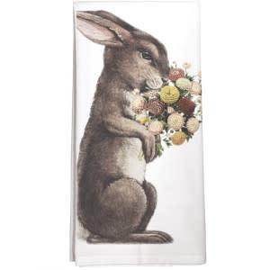 Mary Lake-Thompson LTD Rabbit Bouquet Towel
