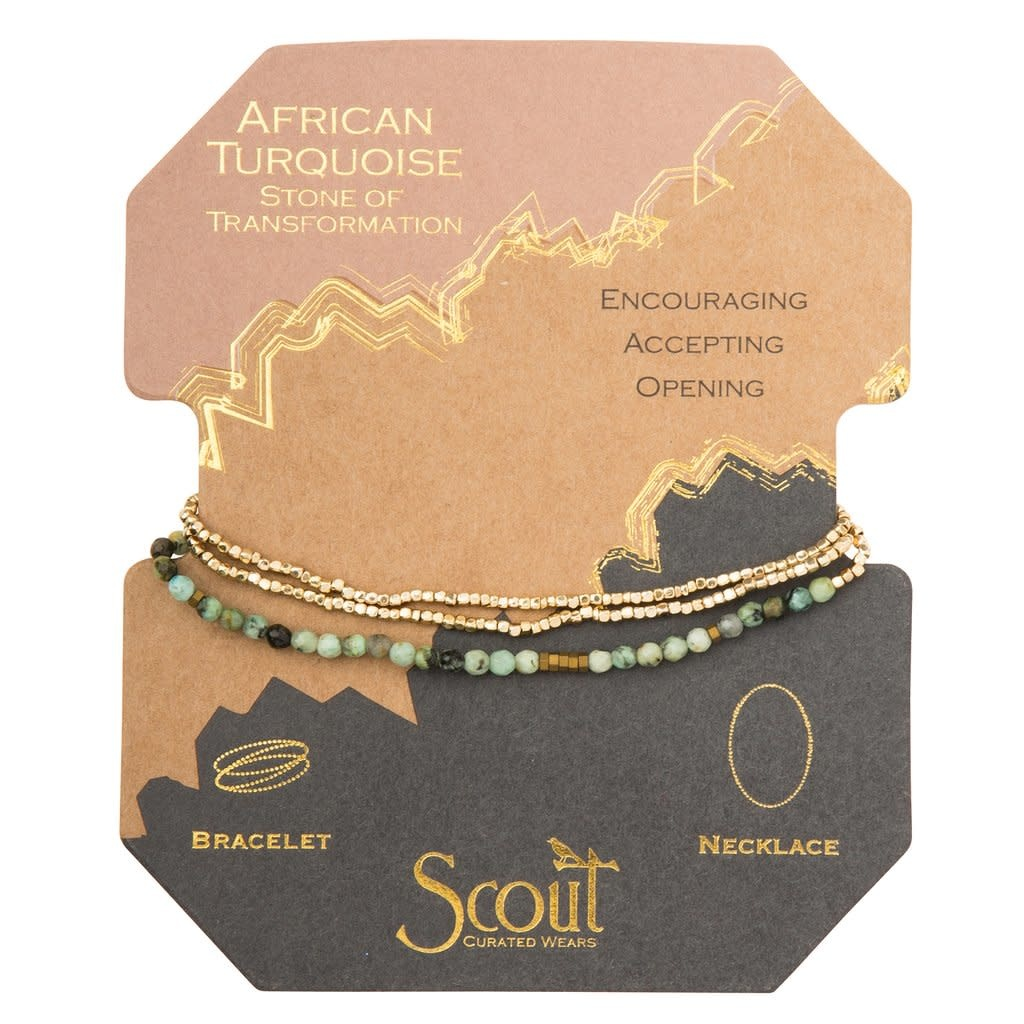 Scout Curated Wears Delicate Stone Wrap Bracelet/Necklace