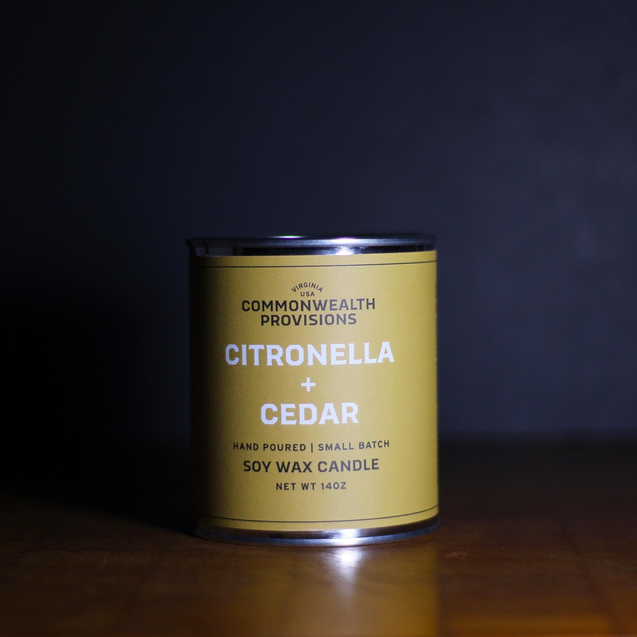 Commonwealth Provisions Citronella & Cedar Candle