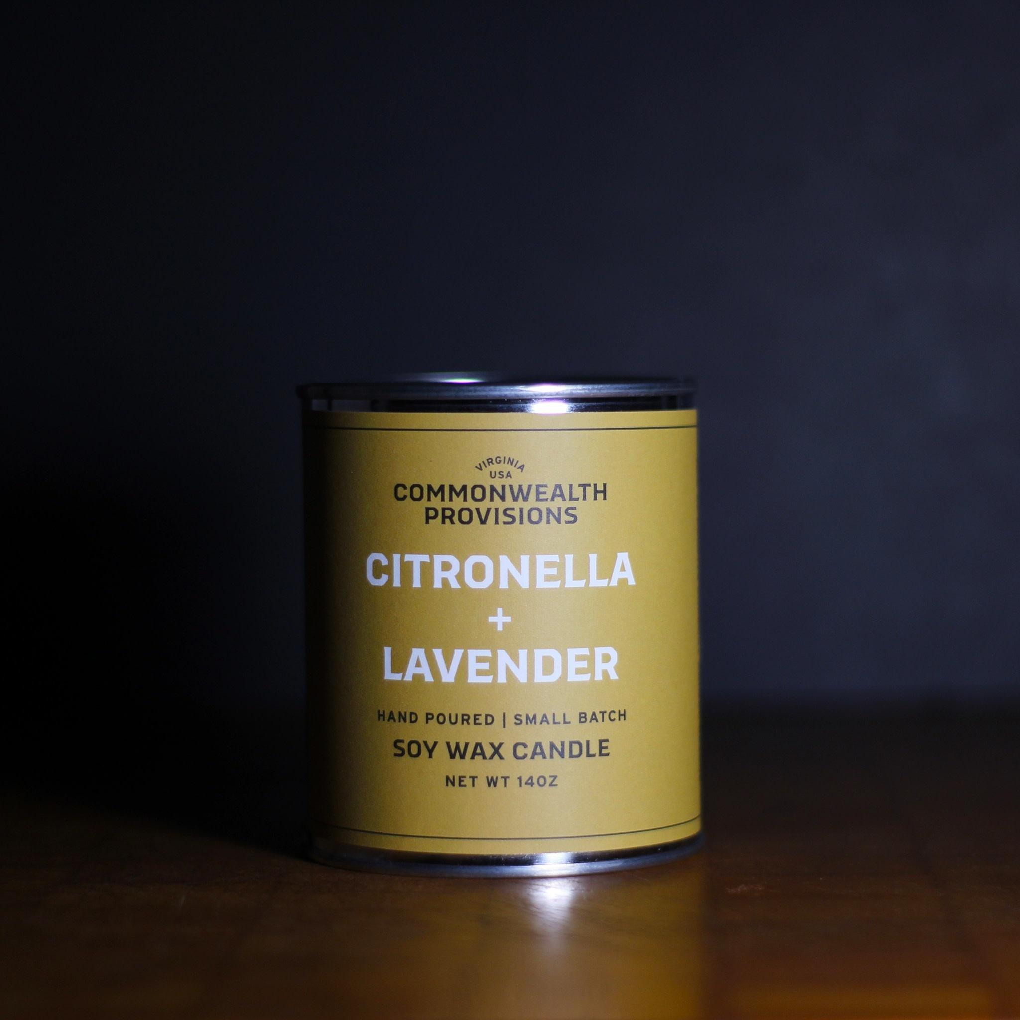 Commonwealth Provisions Citronella & Lavender Candle