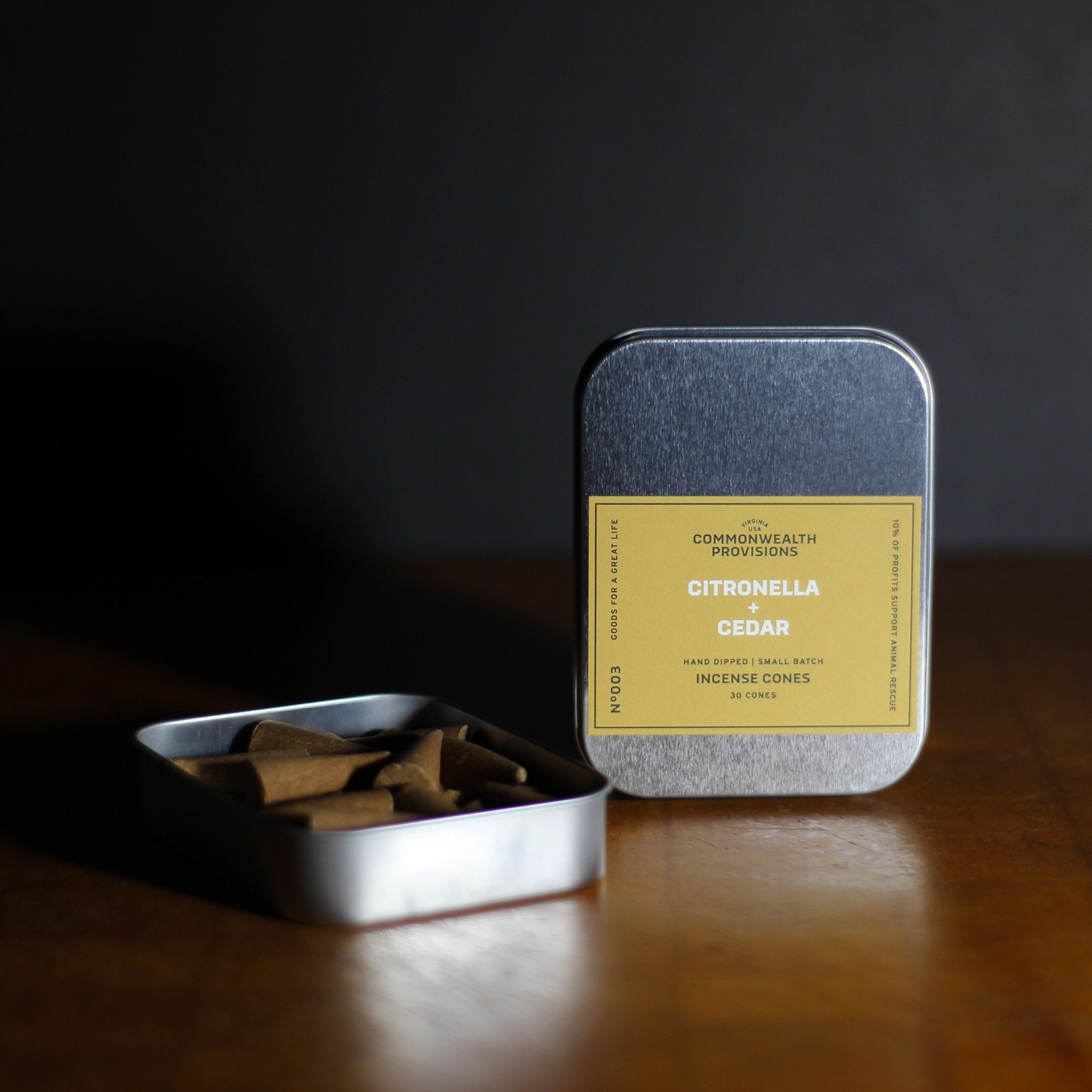 Commonwealth Provisions Citronella & Cedar Incense Cones