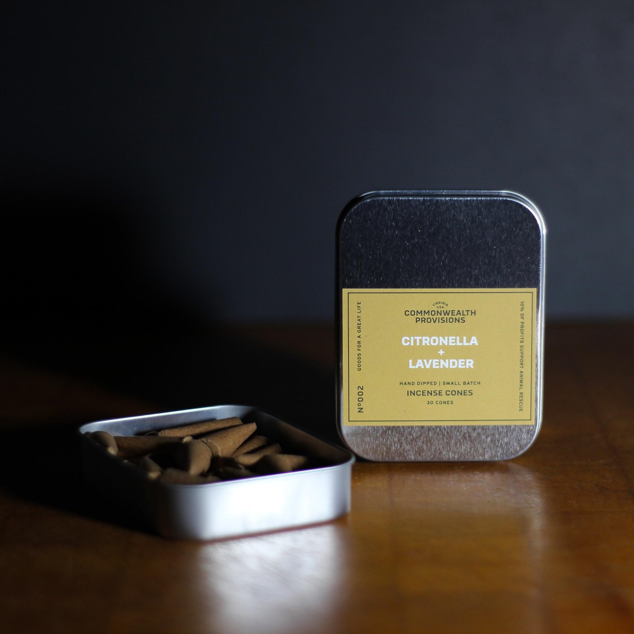 Commonwealth Provisions Citronella & Lavender Incense Cones