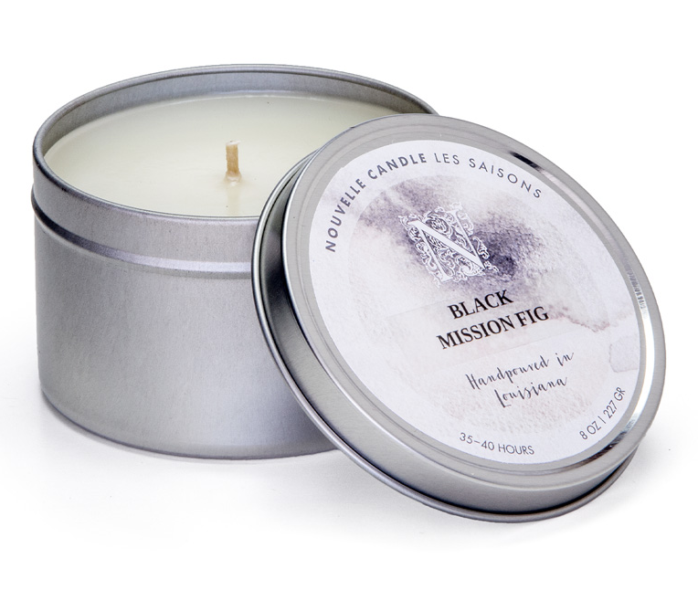 Nouvelle Candle Company Black Mission Fig Large Travel Tin