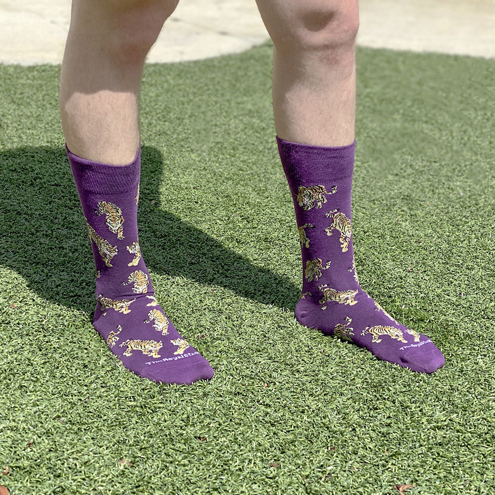 The Royal Standard Men's Go Get 'Em Tiger Socks