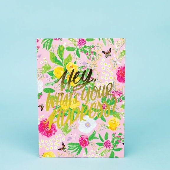 Taylor Elliott Pink Floral Address Book