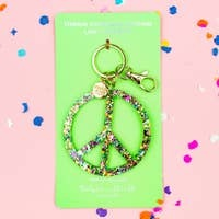 Taylor Elliott Confetti Peace Sign Key Chain