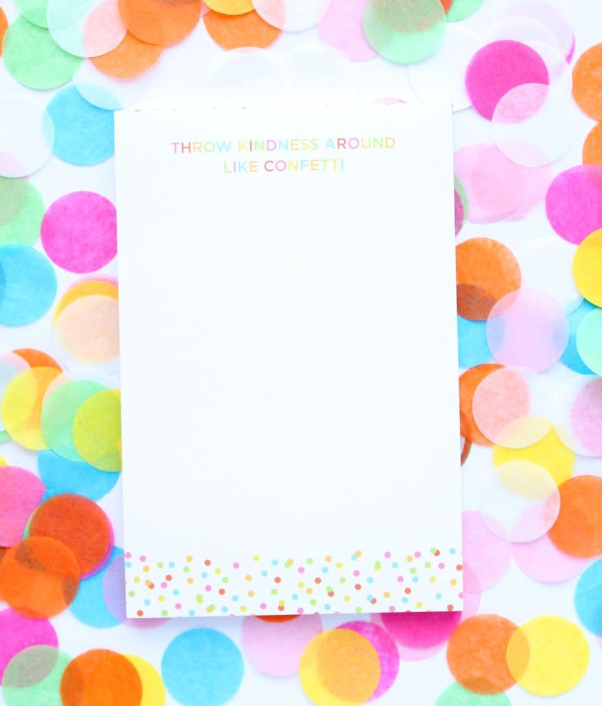 Taylor Elliott Throw Kindness Confetti Notepad