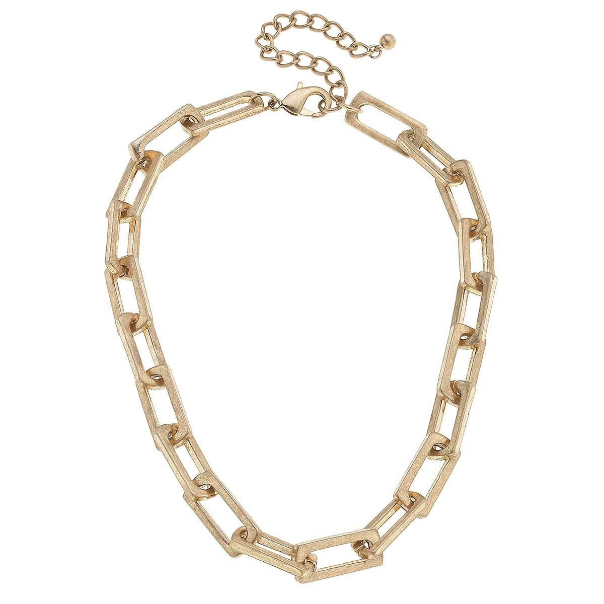 Canvas Lennox Chunky Rectangle Chain Link Necklace