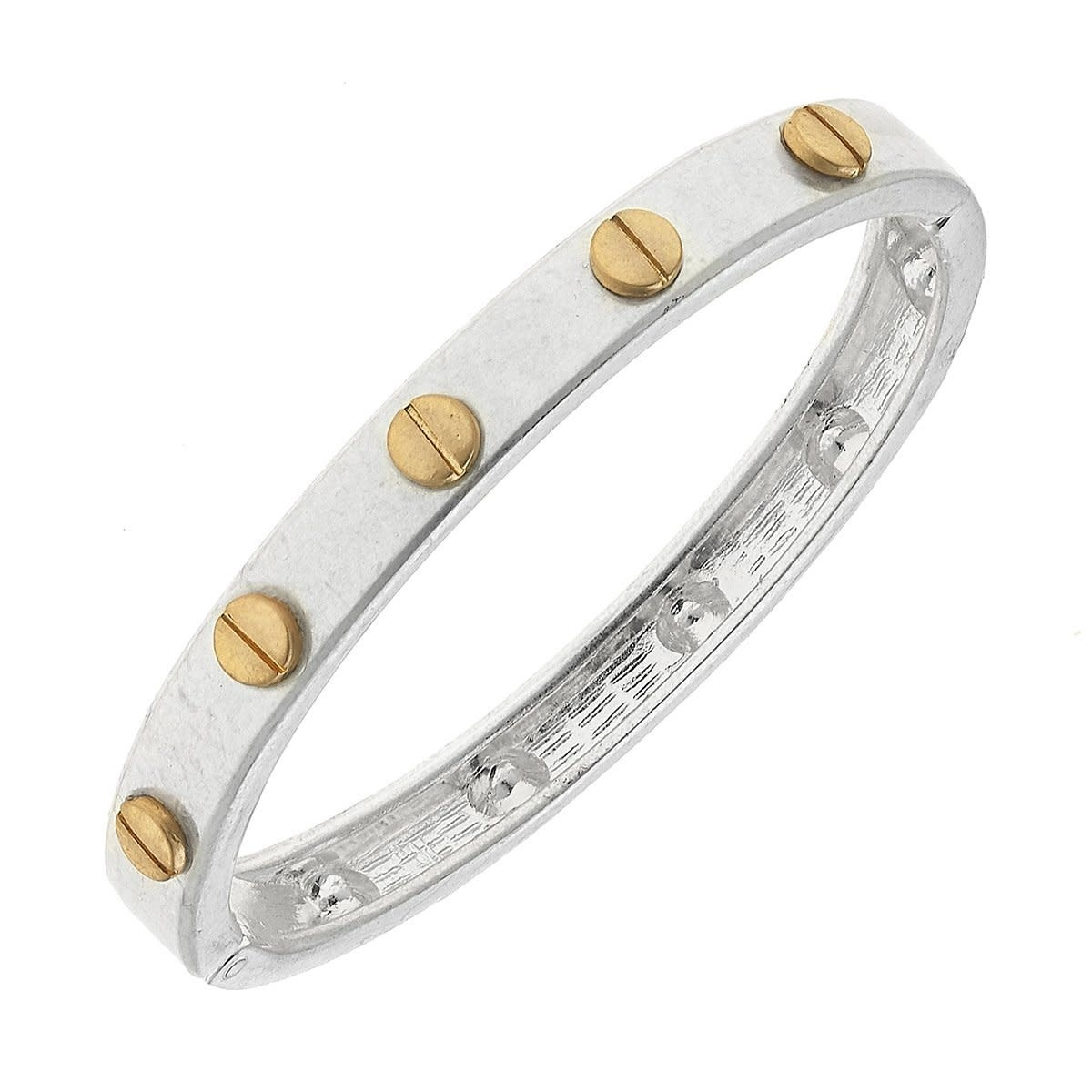 Canvas Ella Hardware Hinge Silver Bangle
