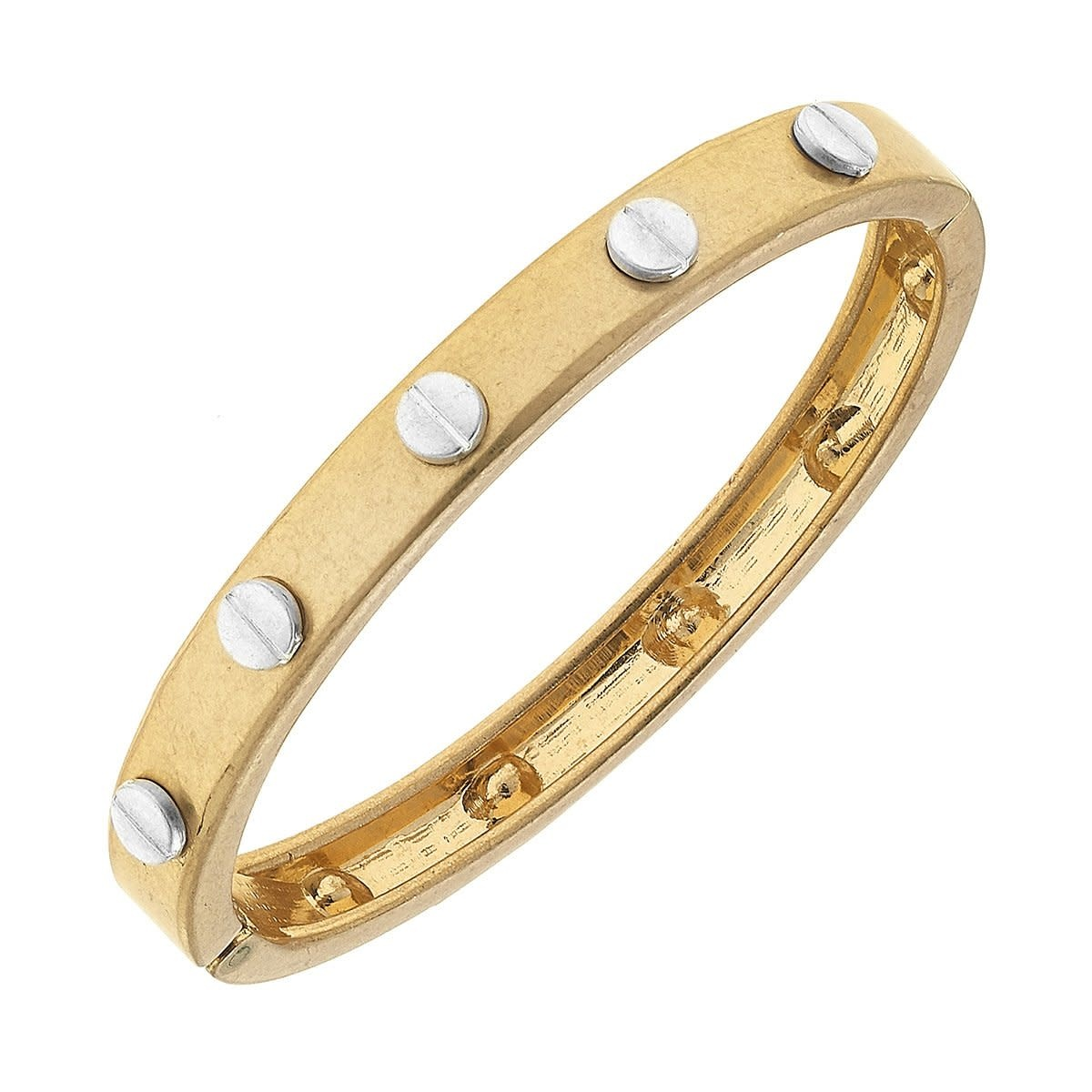 Canvas Ella Hardware Hinge Gold Bangle