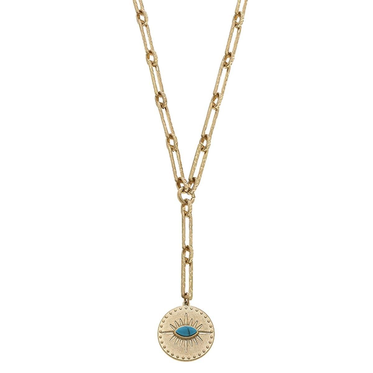 Canvas Emilia Evil Eye Talisman Necklace