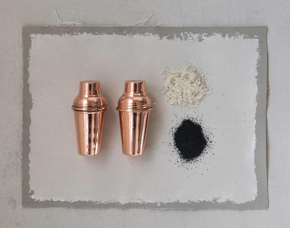 Creative Co-Op Stainless Steel Salt & Pepper Shakers