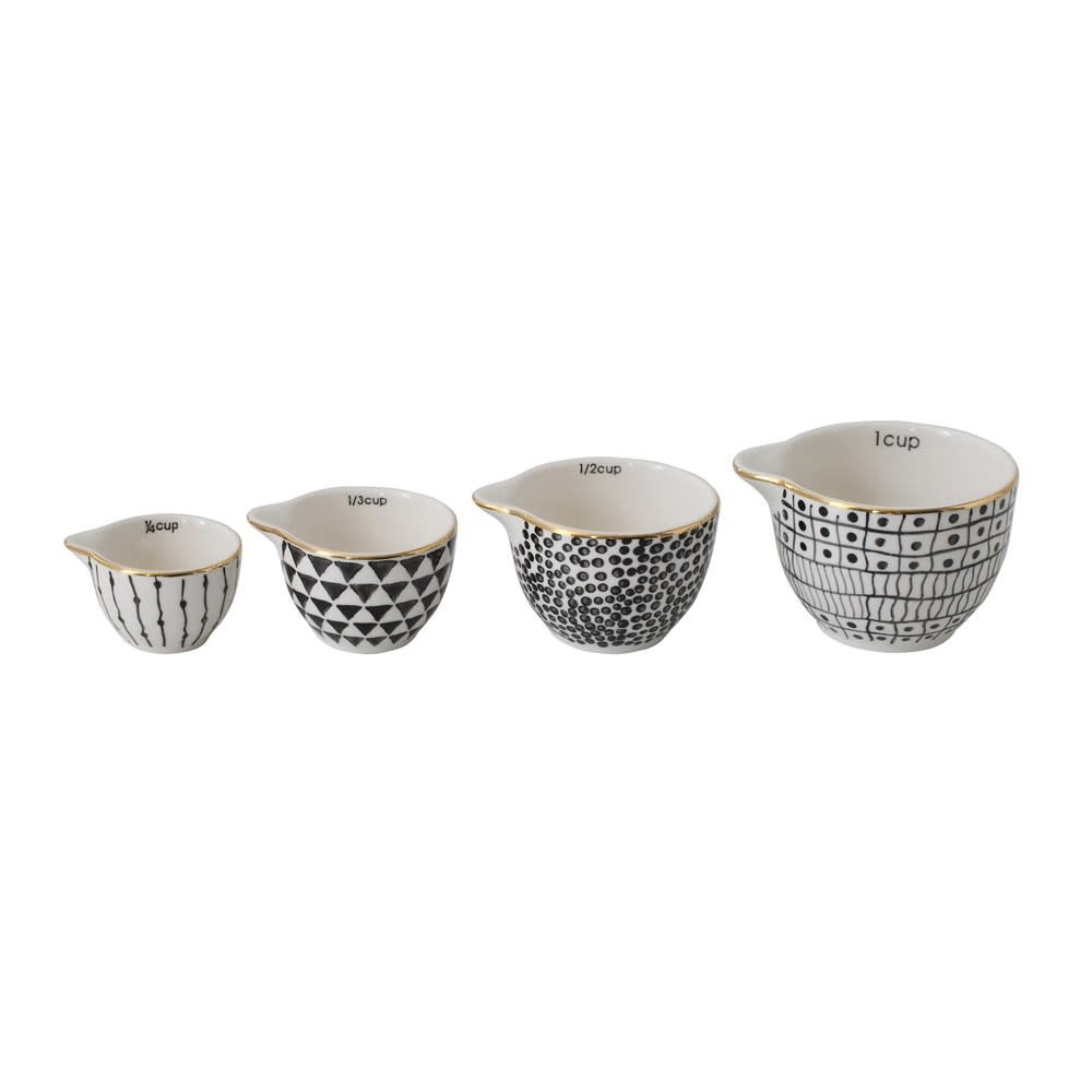 Creative Co-Op Stoneware Measuring Cup Set of 4