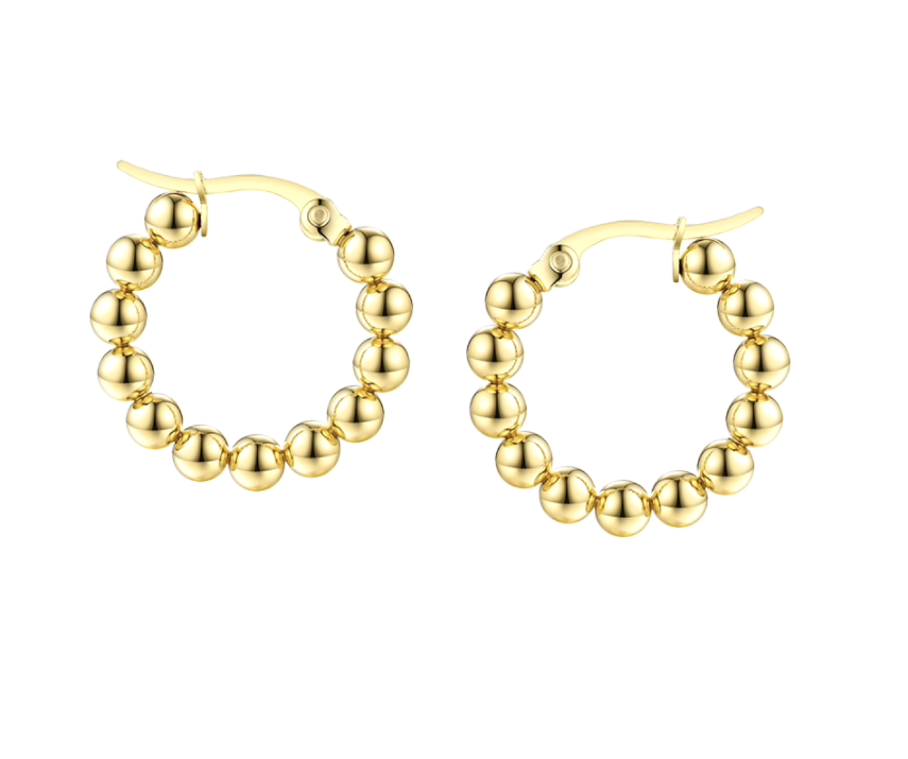 Accessory Concierge Gold Ball Huggie Hoops