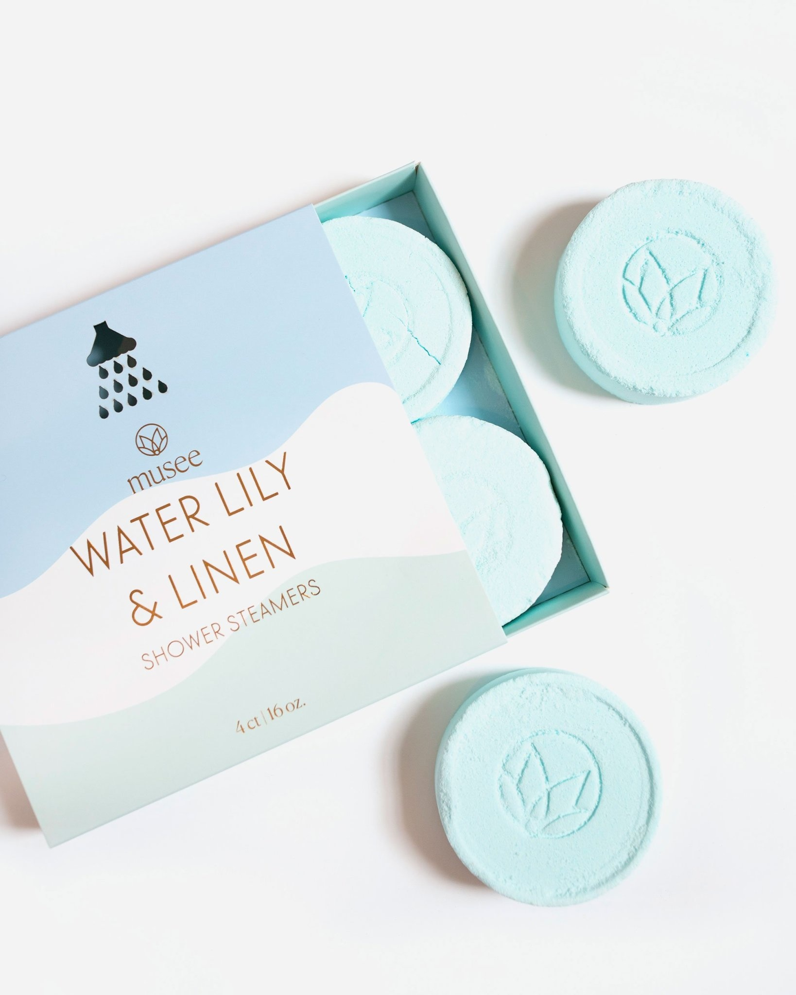 Musee Shower Steamers-Water Lily & Linen