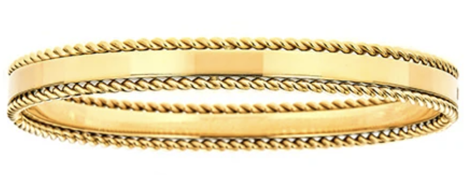 Maya J Jewelry Gold Rope Trim Bangle