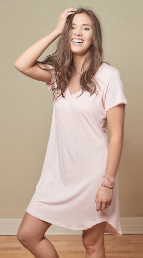 Faceplant Faceplant Bamboo Claire Nightgown Blush Pink