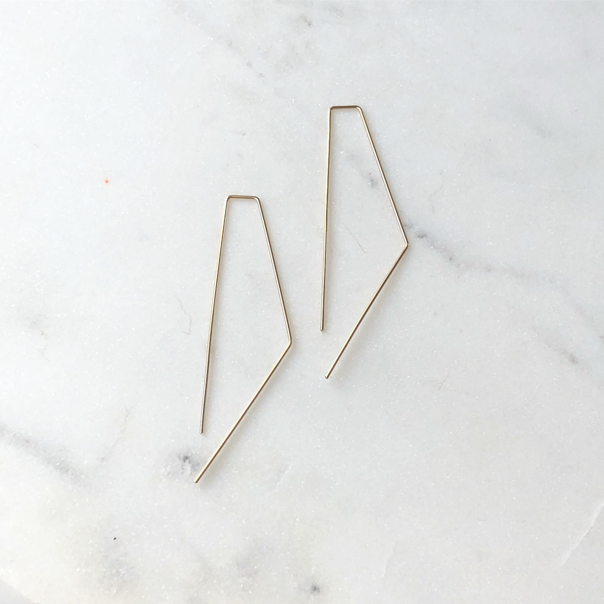 Token Jewelry Bent Slides Small-Sterling Silver