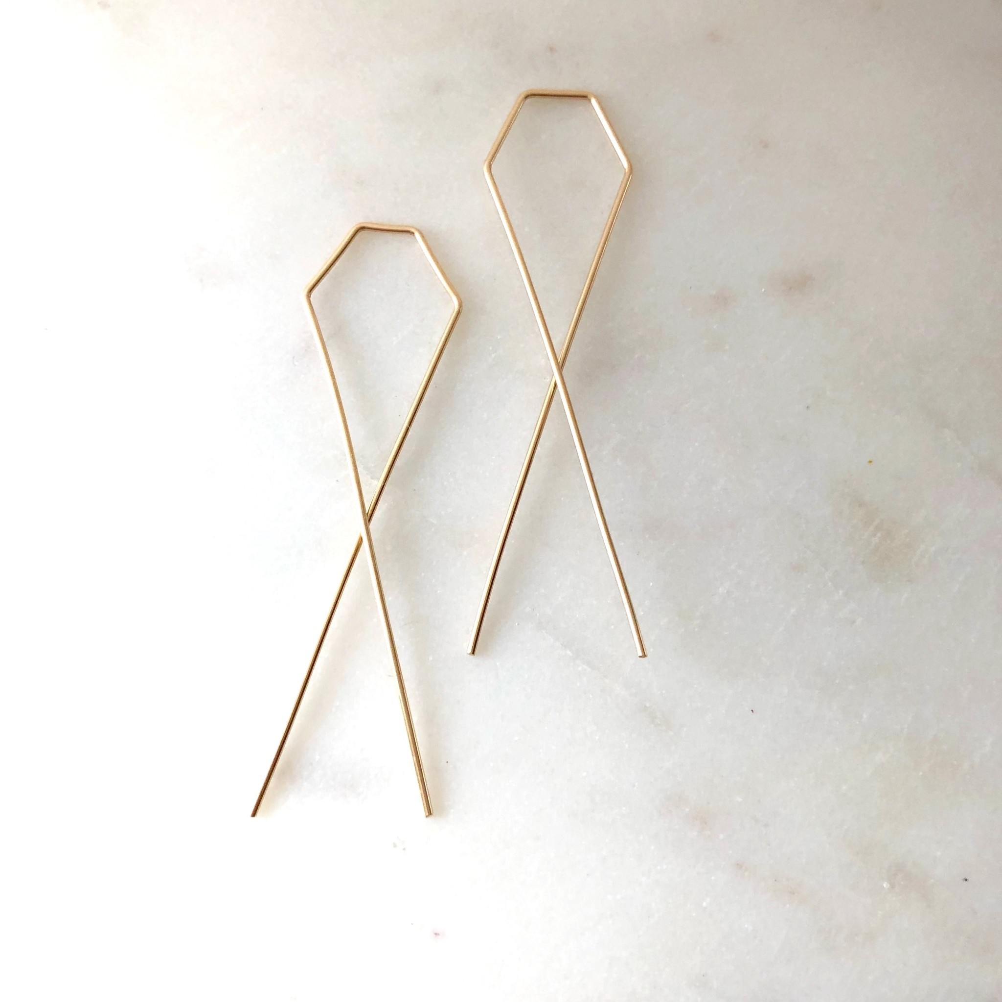 Token Jewelry Cross Threaders-14K Gold Fill