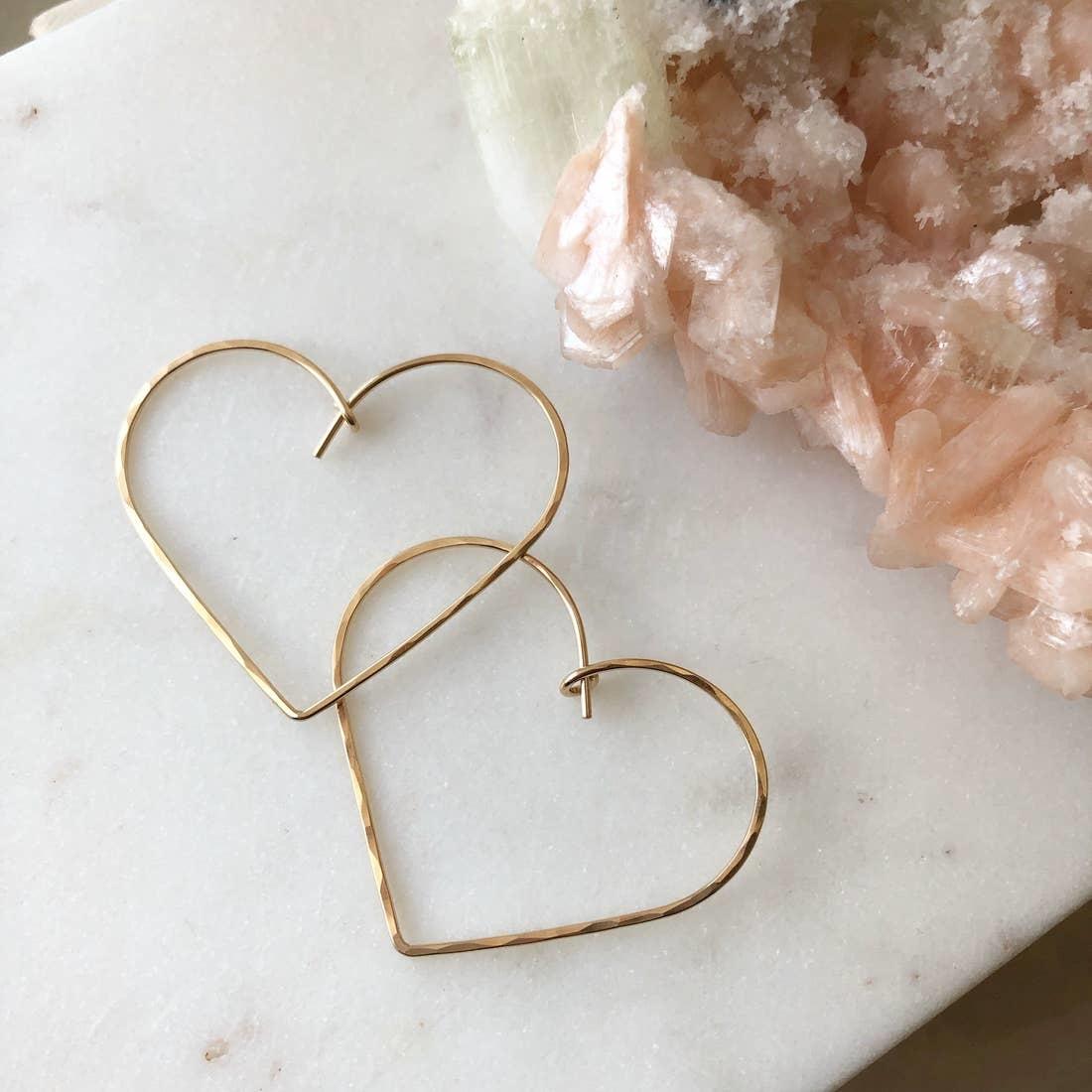 Token Jewelry Heart Hoops 14K Gold Fill