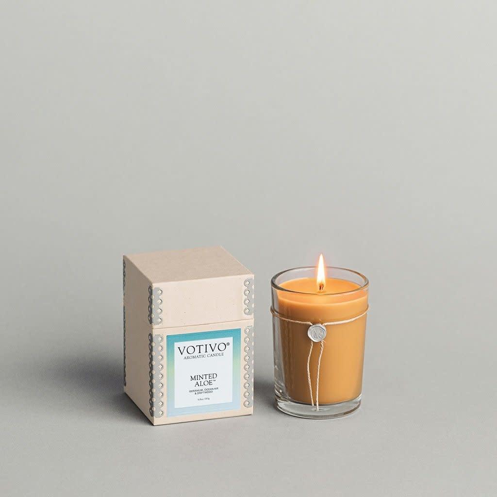 Votivo 6.8oz Aromatic Candle Minted Aloe