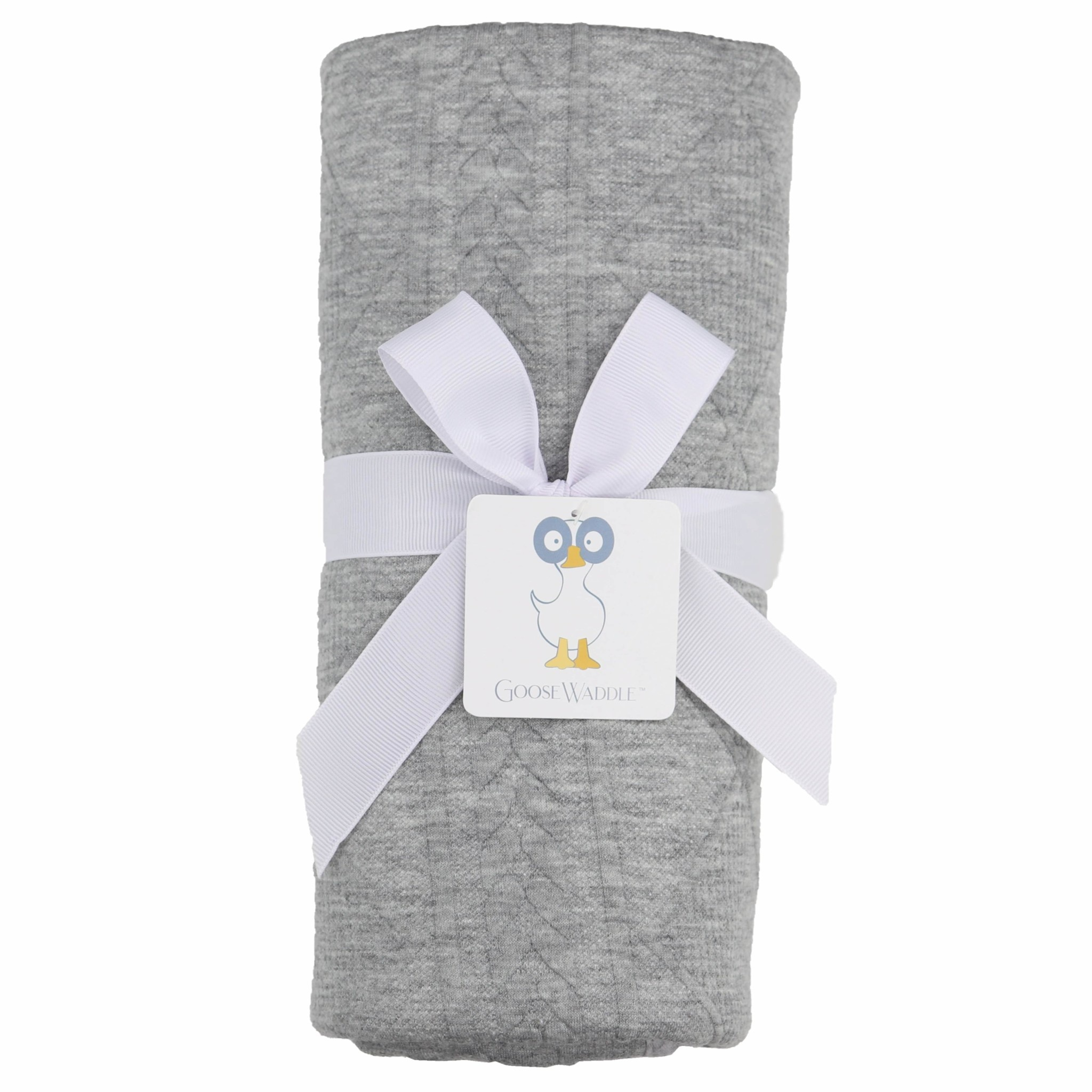 Goosewaddle Gray Knit Blanket