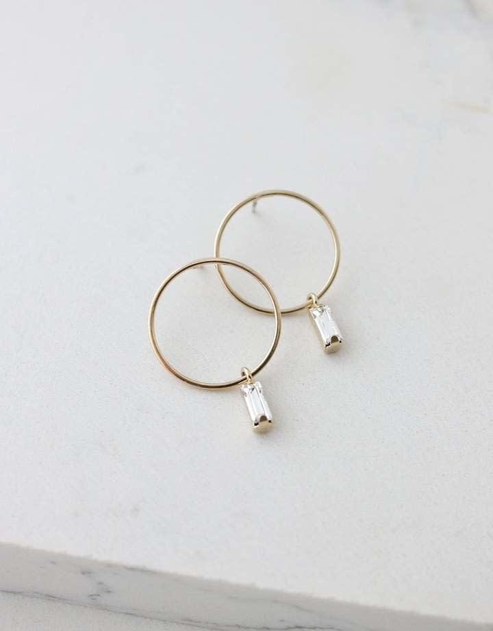 Lover's Tempo Gold Colette Drop Hoop Earrings