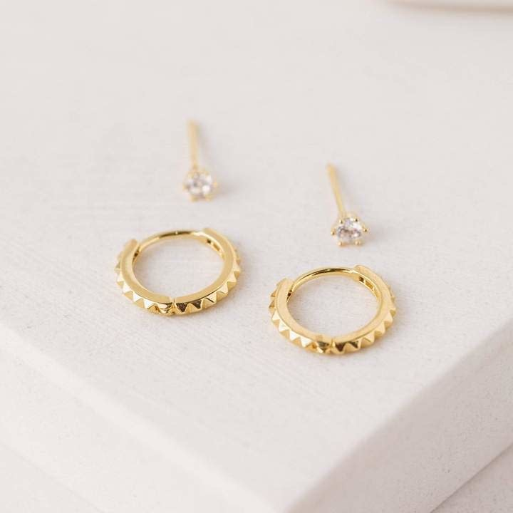 Lover's Tempo Gold Frankie Duet Ear Stack