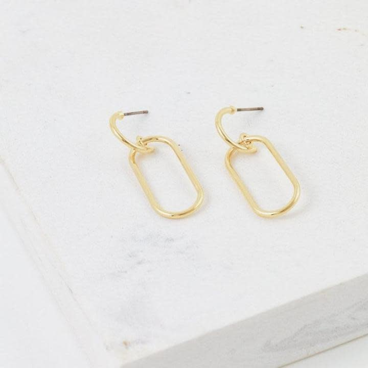 Lover's Tempo Gold Lago Drop Earrings
