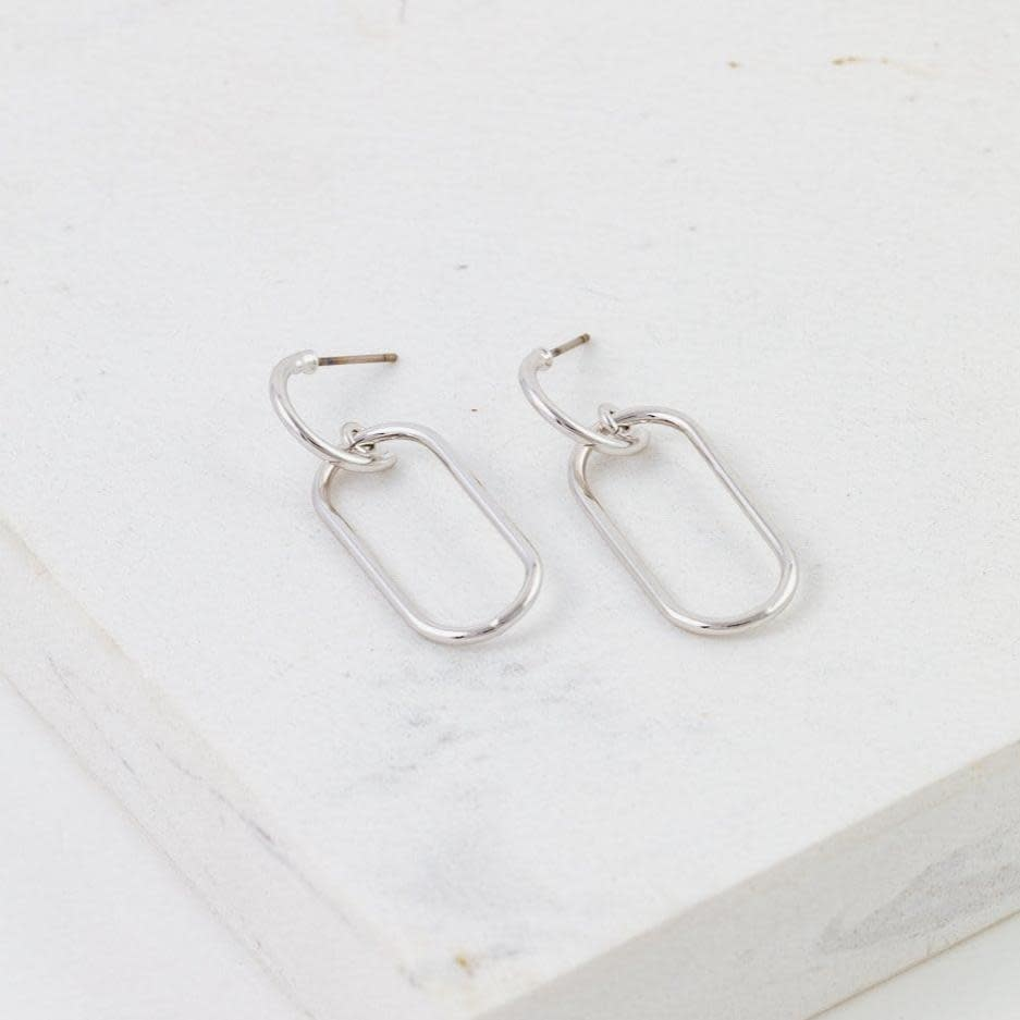 Lover's Tempo Silver Lago Drop Earrings