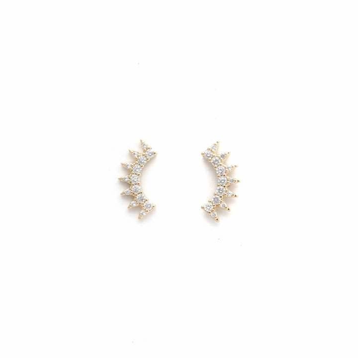 Lover's Tempo Gold Nova Climber Earrings