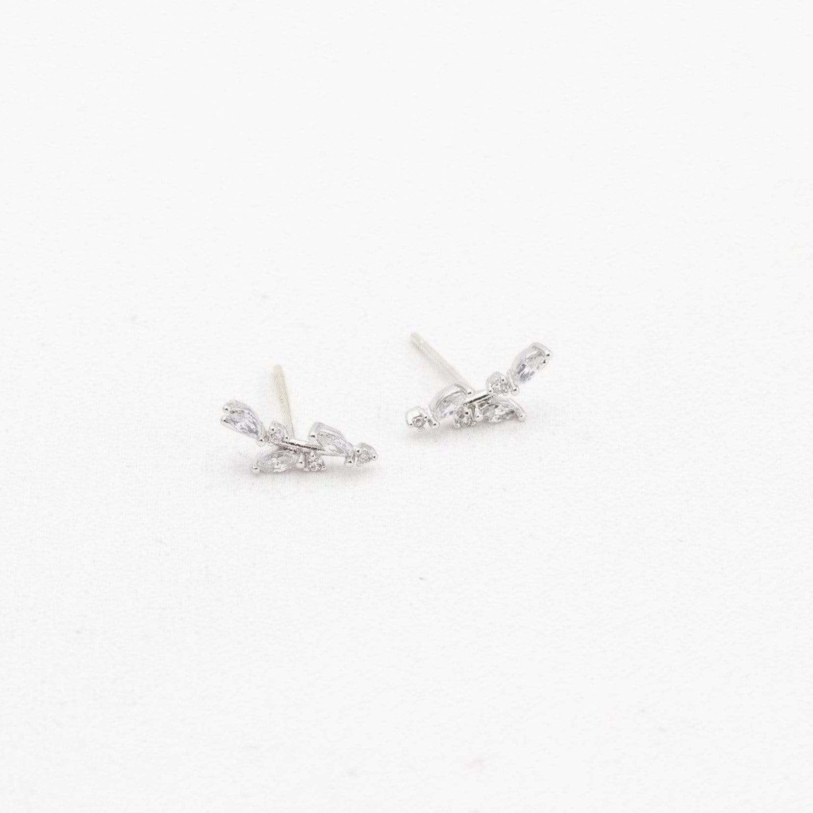 Lover's Tempo Silver Olive Climber Earrings