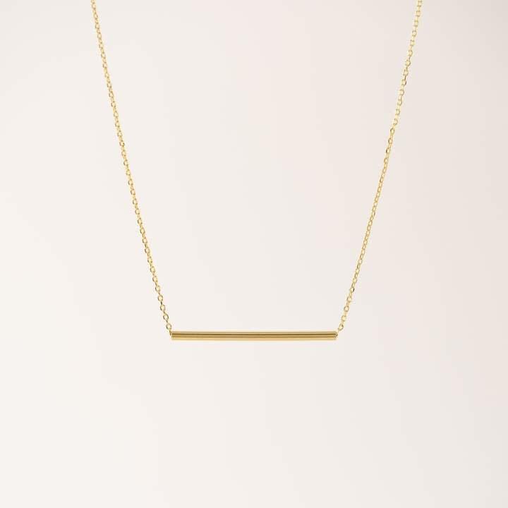 Lover's Tempo Gold Serra Pipe Necklace