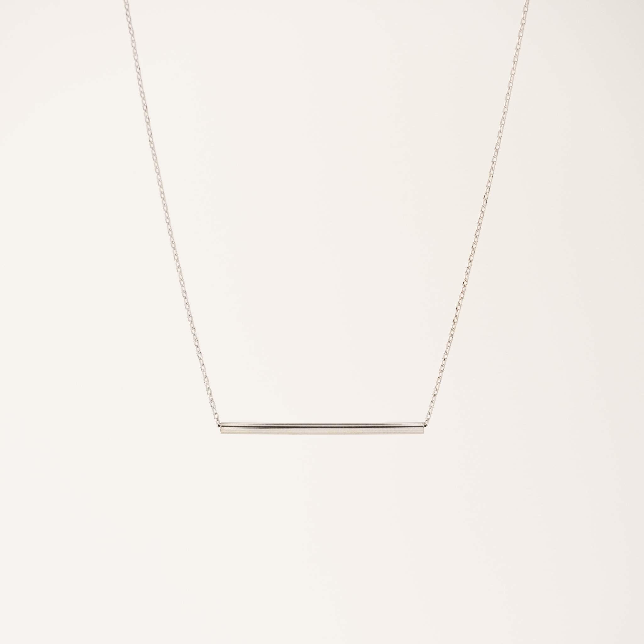 Lover's Tempo Silver Serra Pipe Necklace