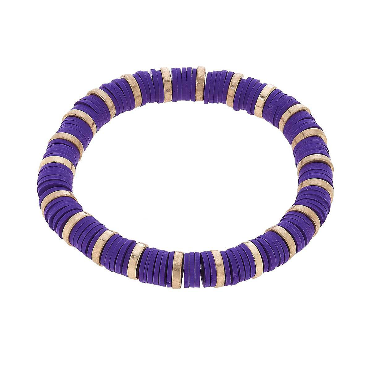 Canvas Emberly Color Block Bracelet-Purple
