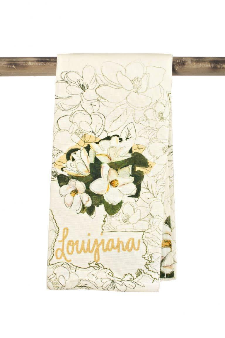 The Parish Line Painted Magnolia Kitchen Towel