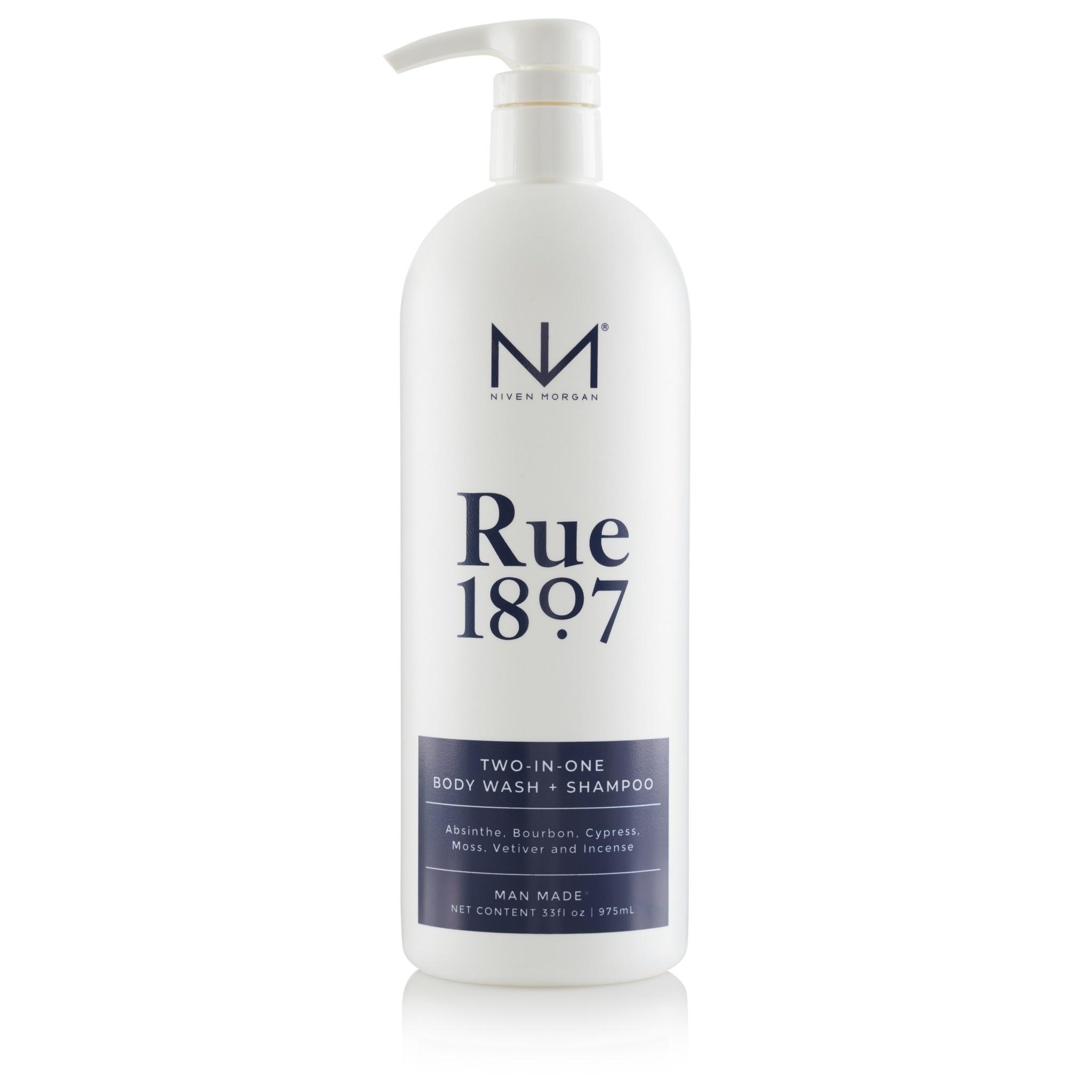 Niven Morgan Body Wash & Shampoo- Rue 1807 33oz